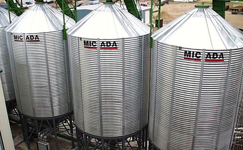 Micada Round Hopper Bottom Bins | Warrior Mfg , LLC